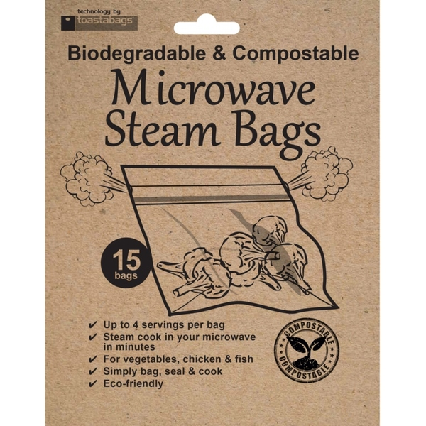 Planit Eco Friendly Microwave Steam Bags Pack 15