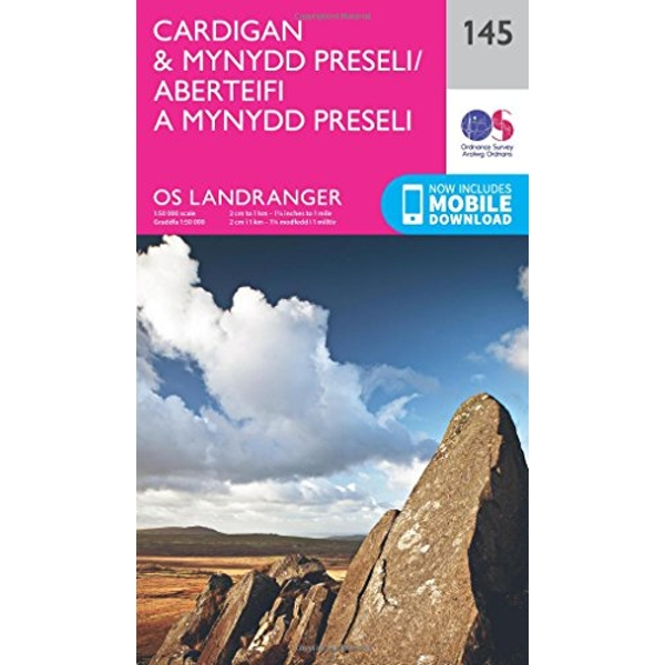 Cardigan & Mynydd Preseli  Sheet map, folded 2016