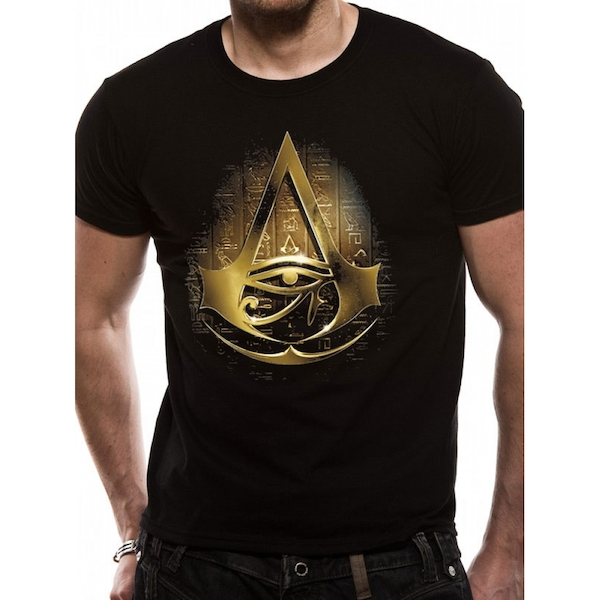 Assassins Creed Origins - Gold Hieroglyph Men's Small T-Shirt - Black