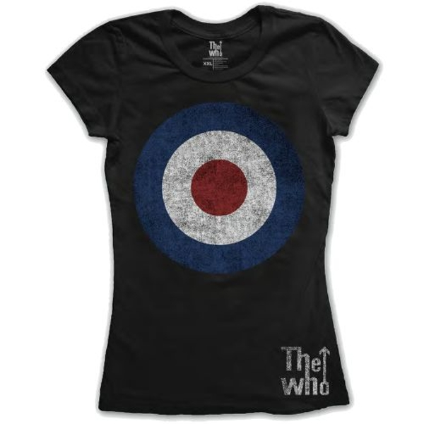 Who - The - Target Distressed Ladies XX-Large T-Shirt - Black