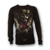 Spiral Steam Punk Bandit Black Long Sleeved T-Shirt Large