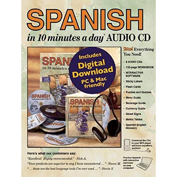 SPANISH in 10 Minutes a Day (R) Audio CD  2003 Mixed media product