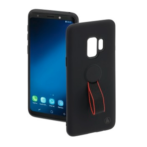 "Hama Cover Red Sensation No. 2"" for Samsung Galaxy S9, black/red"