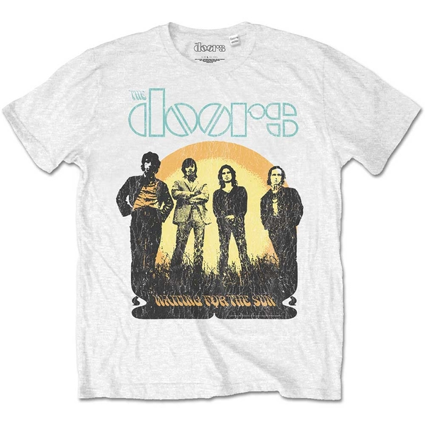 The Doors - Waiting for the Sun Unisex Large T-Shirt - White