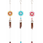 3 Assorted Sun Windchimes Pack Of 3