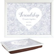 Said with Sentiment Lap Trays Friendship