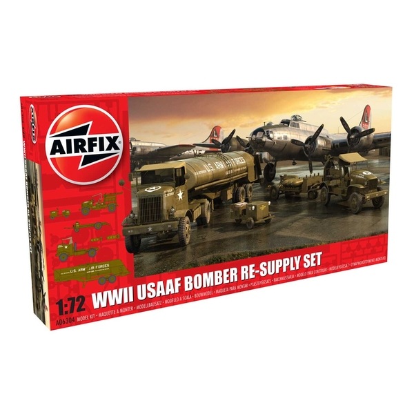 WWII USAAF 8th Bomber Resupply Set Seires 6 Military Air Fix Model Kit