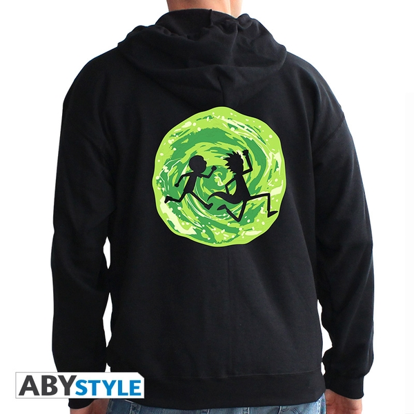 Rick And Morty - Portal Men's X-Large Hoodie - Black