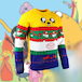 Adventure Time - Finn & Jake Unisex Christmas Jumper Medium - Image 2