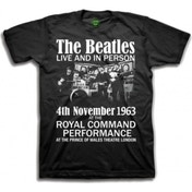 The Beatles Live and in Person Boys Blk TS: XL