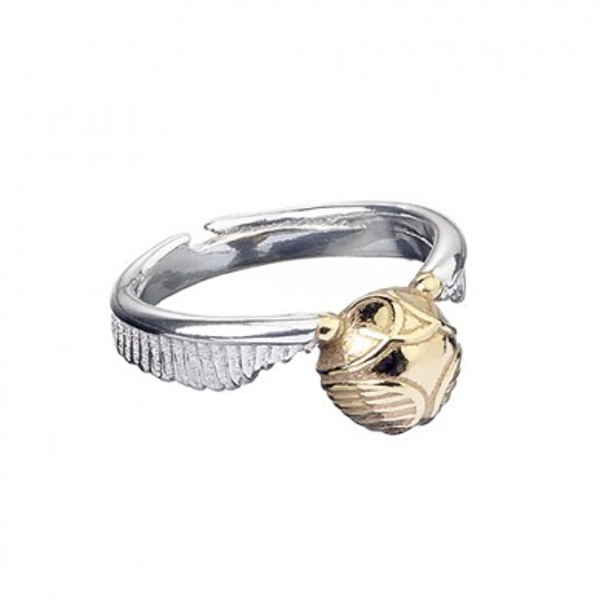 Stainless Steel Golden Snitch Ring- Small