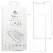 CASEFLEX LG K10 (2018) TEMPERED GLASS (TWIN PACK) - CLEAR