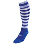Precision Royal/White Hooped Pro Football Socks Adult