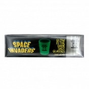 Ex-Display Space Invaders Glow In The Dark Shot Glasses Used - Like New