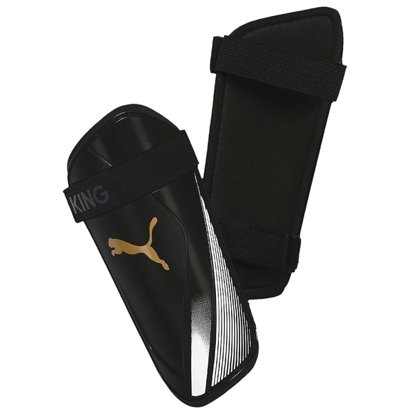 Puma King ES 2 Slip In Guards Black/Gold Large