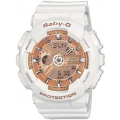 Casio BA110-7A1ER Baby-G Combination Wach with 5 Alarms (White)