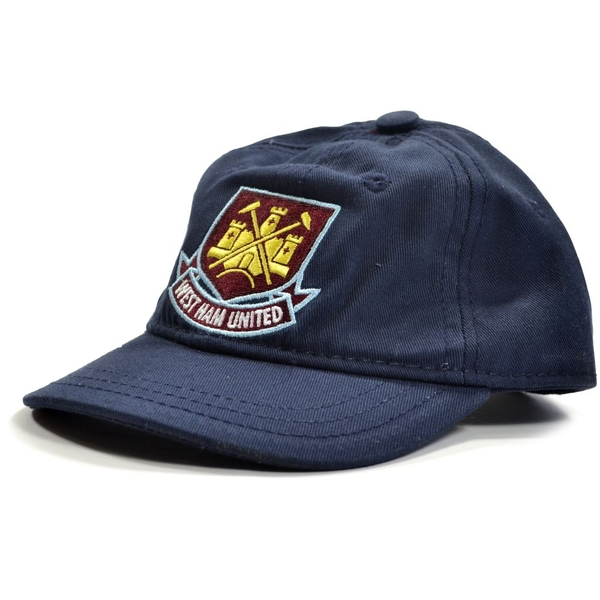 West Ham Classic Crest Toddlers Baseball Cap Navy