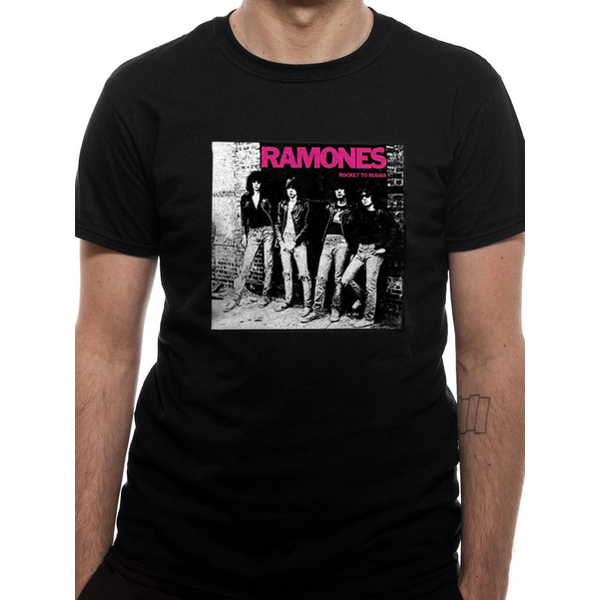 Ramones - Rocket To Russia Men's Small T-Shirt - Black