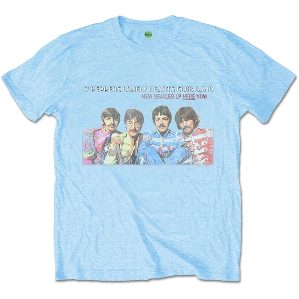 The Beatles - LP Here Now Unisex Small T-Shirt - Blue