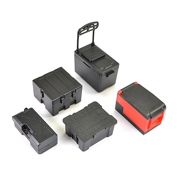 Fastrax Scale 5Pc Tool & Cooler Case Set - Black