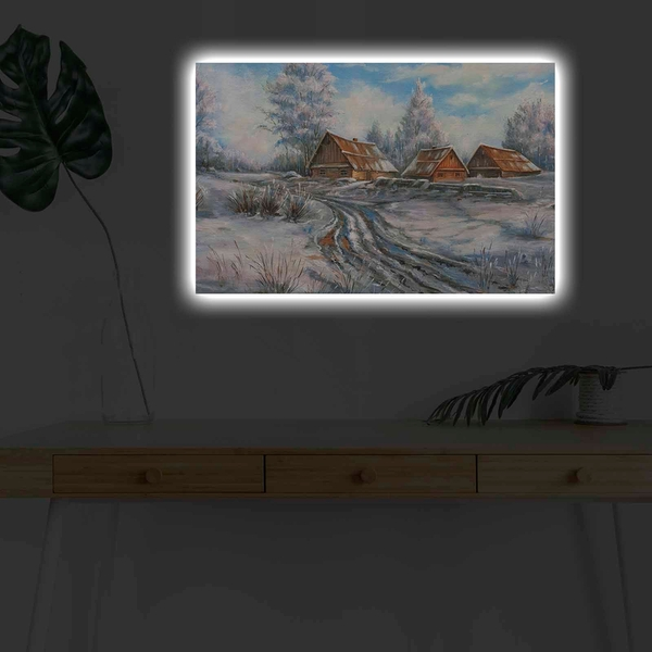 4570KARDACT - 022 Multicolor Decorative Led Lighted Canvas Painting