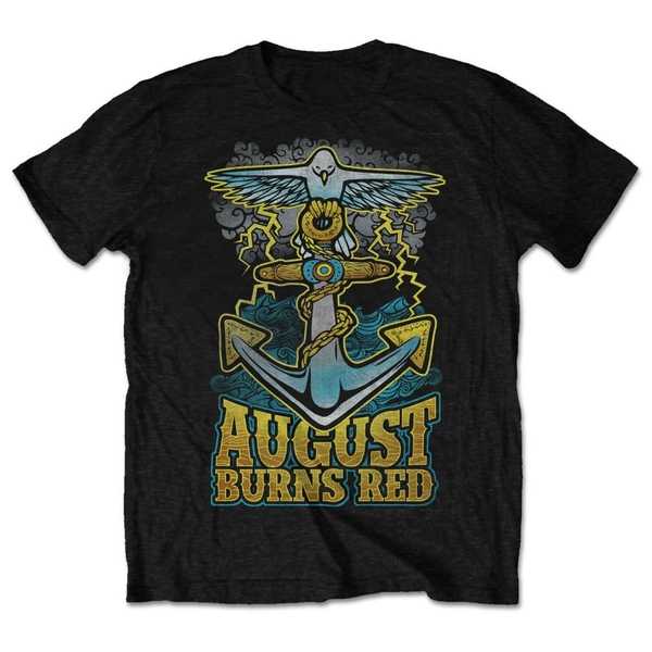 August Burns Red - Dove Anchor Unisex Large T-Shirt - Black