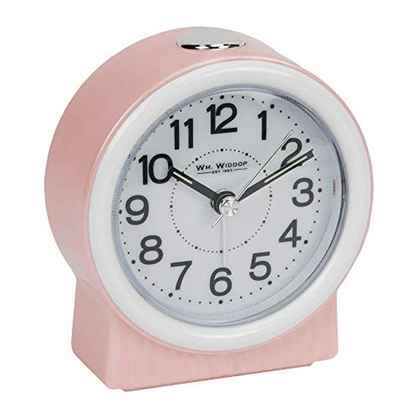 Round Alarm Clock - Sweep/LED Pink