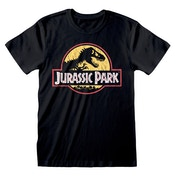 Universal - Jurassic Park Original Logo Distressed Unisex Medium T-Shirt - Black