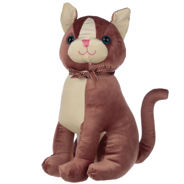 Brown Cat with Ribbon Interior Door Stop