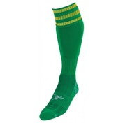 PT 3 Stripe Pro Football Socks Boys Green/Gold