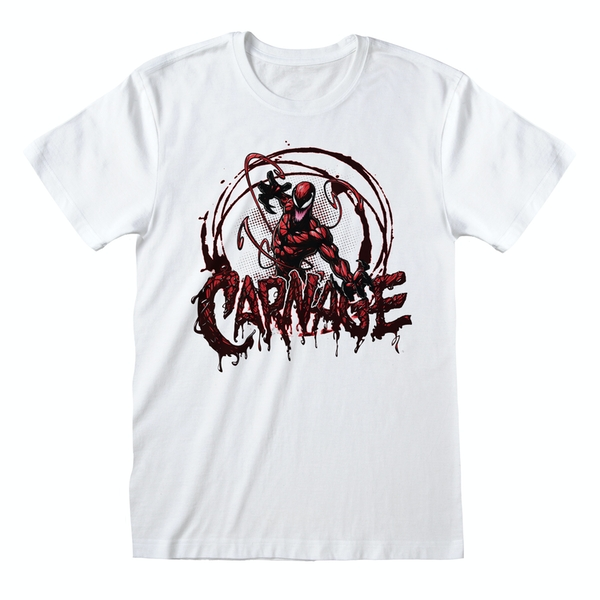 Marvel Comics - Spider-man Carnage Unisex Medium T-Shirt - White