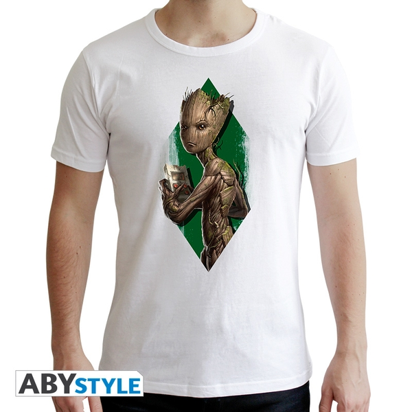Marvel - Teen Groot Men's Small T-Shirt - White