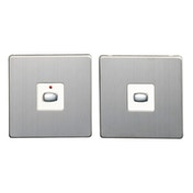 MiHome Smart Brushed Steel 1 Gang Light Switch (Two-way)