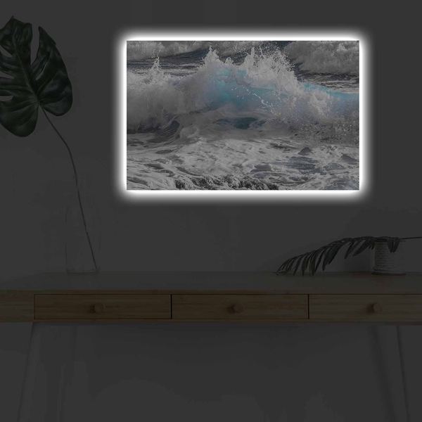 4570DHDACT-175 Multicolor Decorative Led Lighted Canvas Painting
