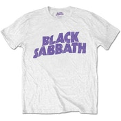 Black Sabbath - Wavy Logo Kids 11 - 12 Years T-Shirt - White