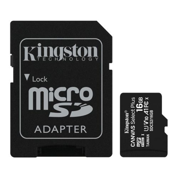 Kingston 32GB Canvas Select Plus Micro SD Card with SD Adapter, UHS-I Class 10 with A1 App Performance