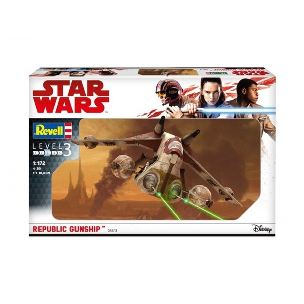 Star Wars Republic Gunship Level 3 Model Kit - Image 1