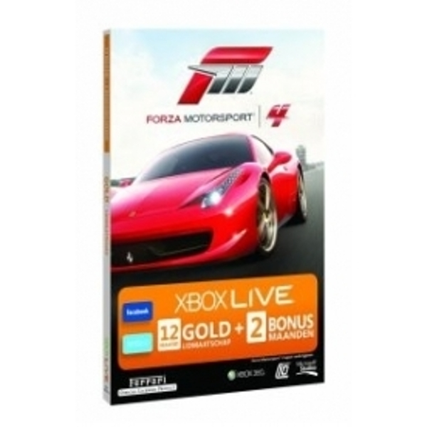 Xbox Live Forza 4 Branded Gold Membership 12 + 2 Months Xbox 360 Digital Download