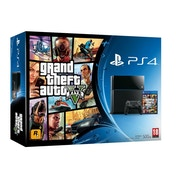 PlayStation 4 (500GB) Black Console with Grand Theft Auto V