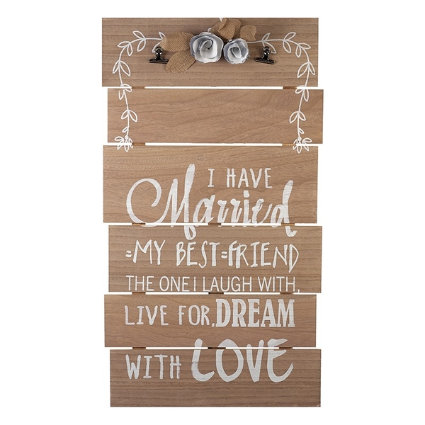 Large Wooden Wedding Sign By Heaven Sends