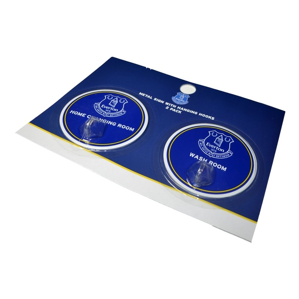 Everton Robe Hook Sign 2 Pack