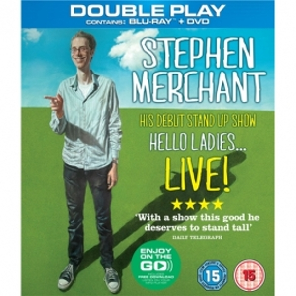 Stephen Merchant Live Hello Ladies Double Play Blu-Ray and DVD
