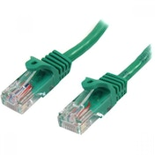 StarTech 45PAT50CMGN 0.5m Cat5e U/UTP (UTP) Green Networking Cable