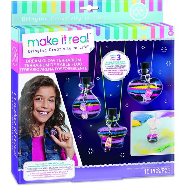 Make It Real Dream Glow Terrarium Activity Set
