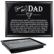 Ultimate Gift for Man Lap Trays Best Dad
