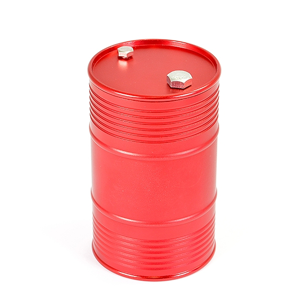 Fastrax Aluminium Anodised Oil Drum W/Removable Lid - Red