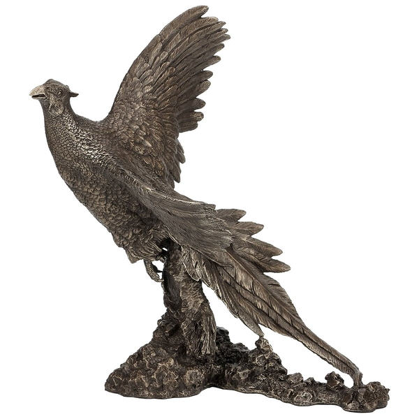 Pheasant Breaking Cover by David Geenty Cold Cast Bronze Sculpture 30.5cm
