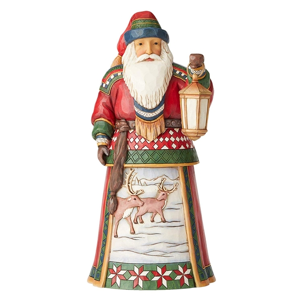 Blanketed In Winter Blessings (12th Annual Lapland) Santa Figurine
