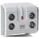 One for All 4 Way TV Signal Booster/Splitter UK Plug