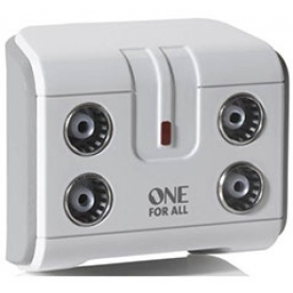 One for All 4 Way TV Signal Booster/Splitter
